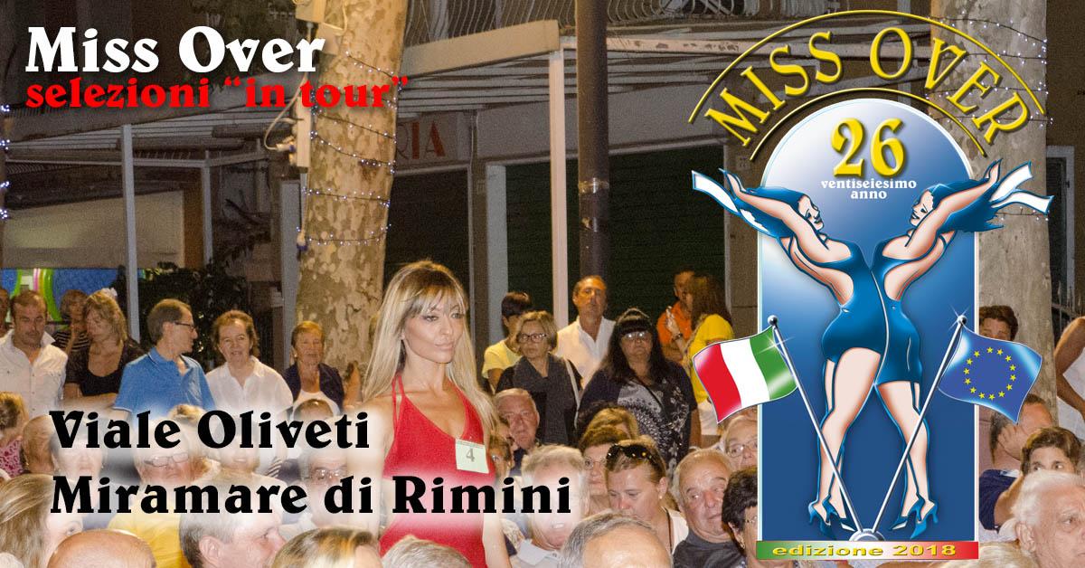 Miss Over 2018 - Selezione in tour - Miramare di Rimini